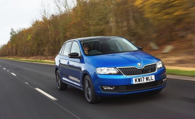 SKODA Spaceback blue
