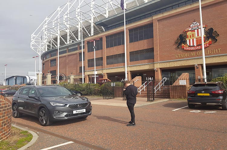 SEAT Tarraco at Sunderland Stadium of Light from Pulman