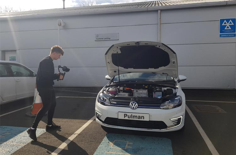Behind the scenes with the Volkswagen e-Golf and Pulman