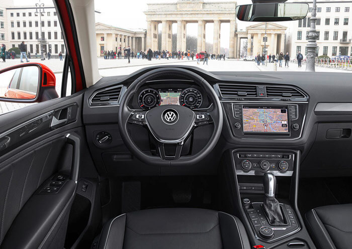 Interior of the Volkswagen Tiguan