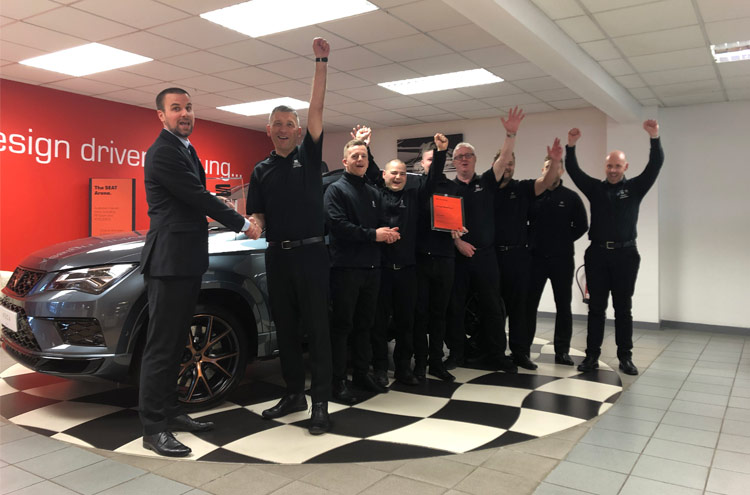 Pulman SEAT team celebrating yet another award