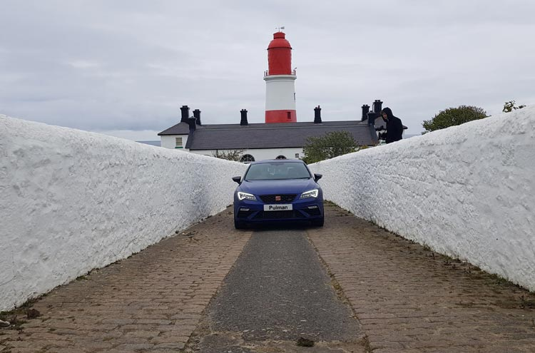 SEAT Leon CUPRA at Souter Lighthouse from Pulman SEAT