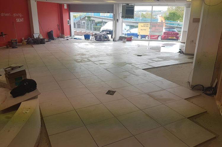More tiles down at Pulman SEAT refurb