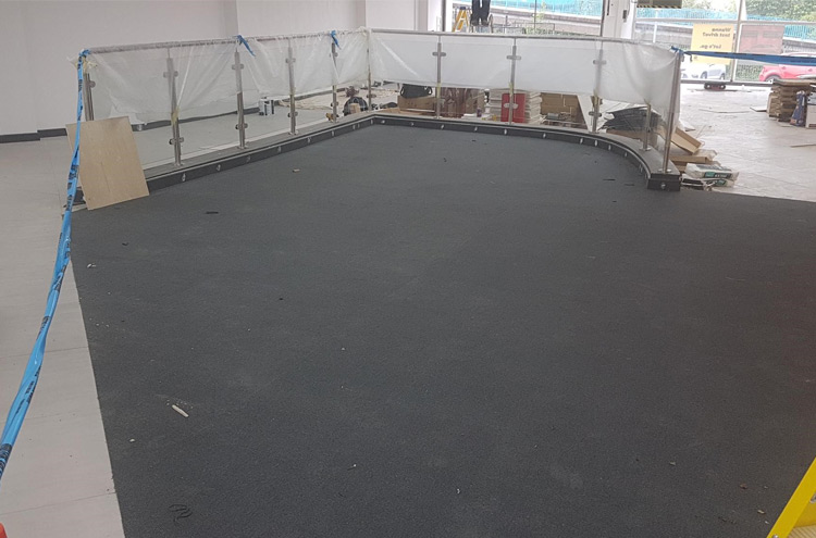New waiting area flooring at Pulman SEAT