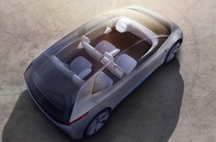 Concept inside the Volkswagen ID.