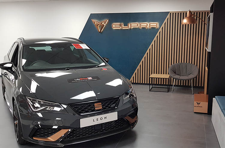 New CUPRA corner at Pulman SEAT and CUPRA after refurbishment