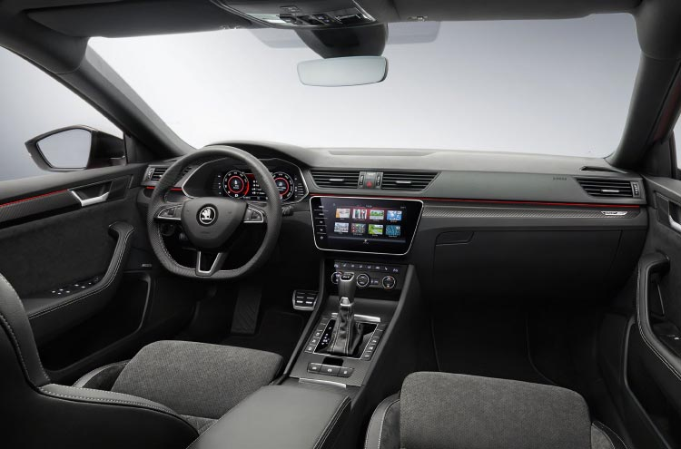 Inside the SKODA SUPERB iV