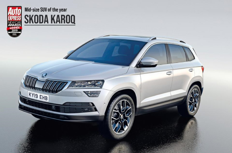 new SKODA Karoq wins Auto Express Award 2019