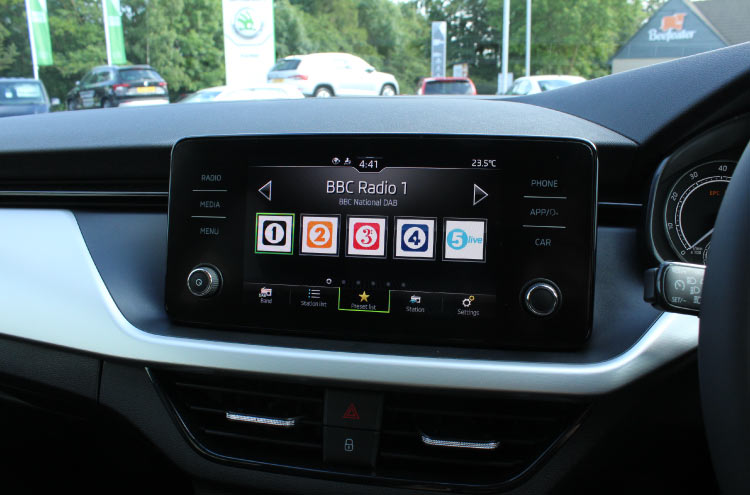 Interior of new SKODA Scala at Pulman SKODA
