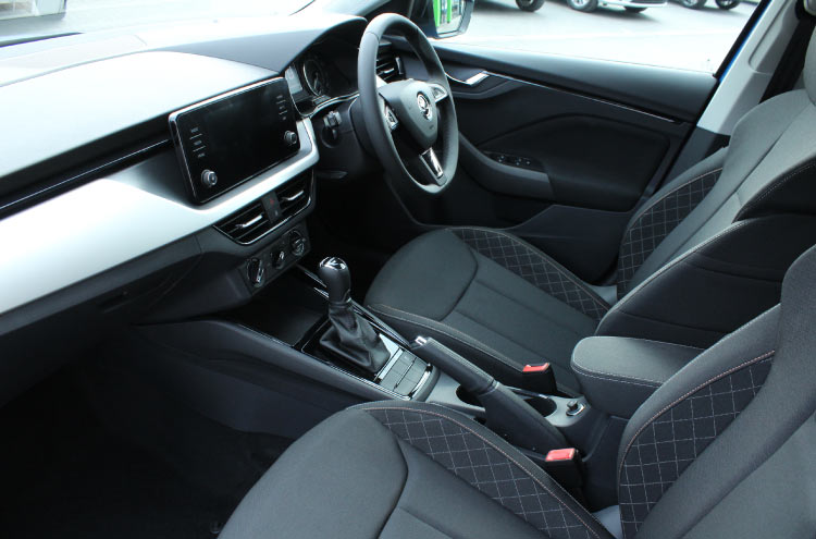 Interior of SKODA Scala now available from Pulman SKODA