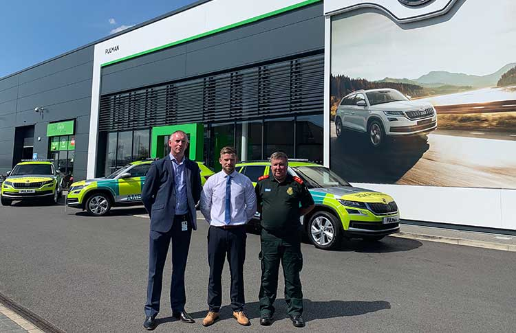 North East Ambulance (NEAS) collect their new SKODA Kodiaq cars