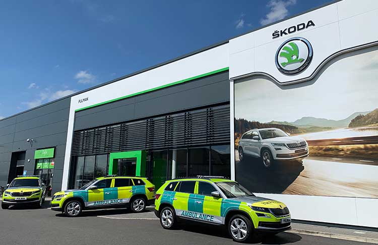 North East Ambulance Service (NEAS) new SKODA Kodiaq Fleet