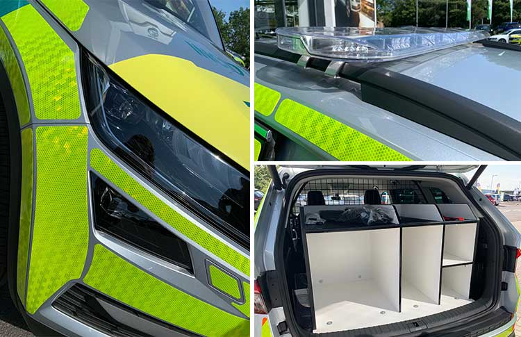 Converted North East Ambulance Service (NEAS) SKODA Kodiaq