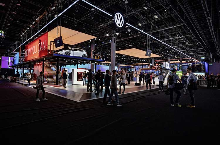 Volkswagen stand at the Frankfurt Motor Show