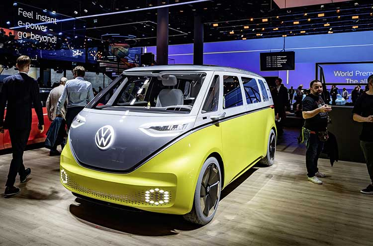 The new Volkswagen ID. Buzz at the Frankfurt Motor Show