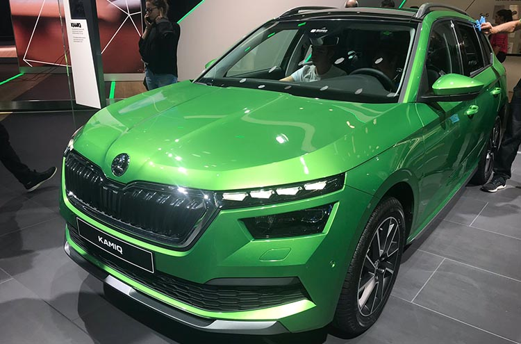 New SKODA Kamiq in green at the Frankfurt Motor Show 2019