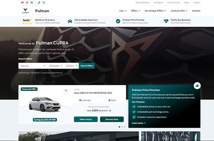 New Pulman CUPRA website