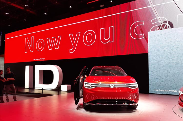 New Volkswagen ID . Roomzz at the Frankfurt Motor Show 2019