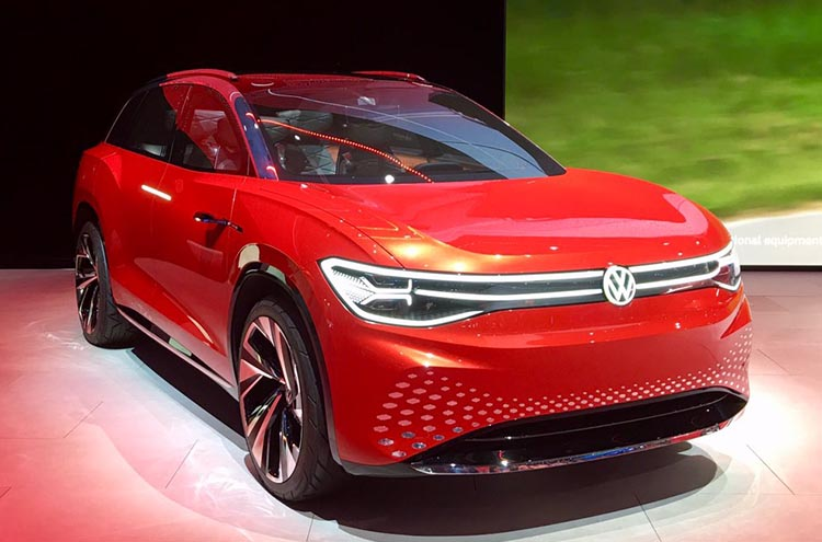 new Volkswagen ID Roomzz at the Frankfurt Motor Show 2019