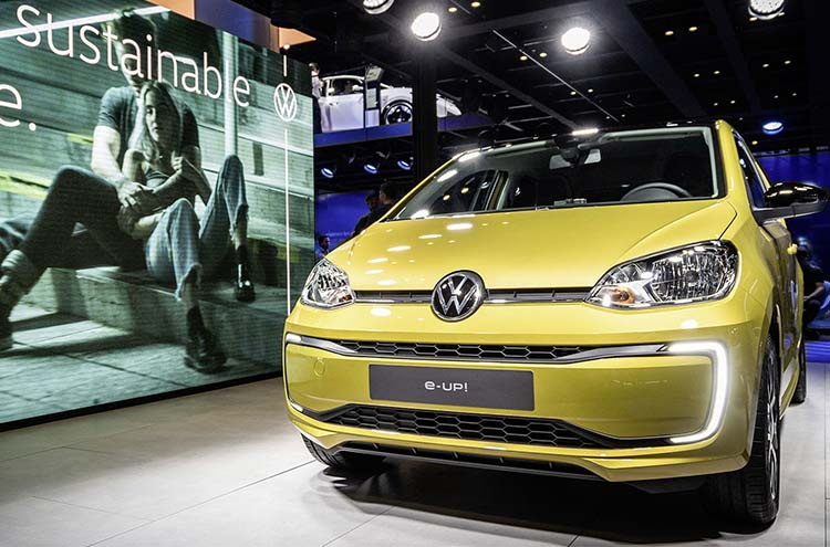 new Volkswagen e-Up at the Frankfurt Motor Show