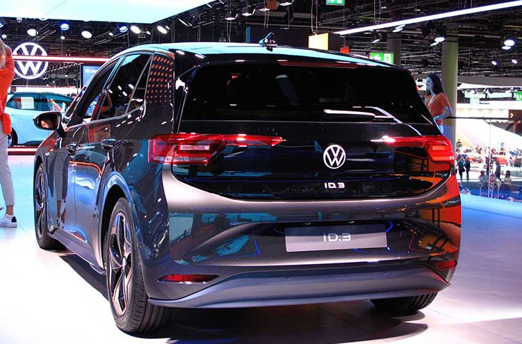New Volkswagen ID.3 1st edition at the Frankfurt Motor Show 2019 in grey