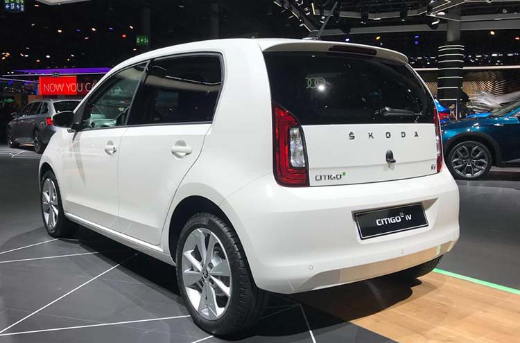 new SKODA Citigoe iV at Frankfurt motor show 2019