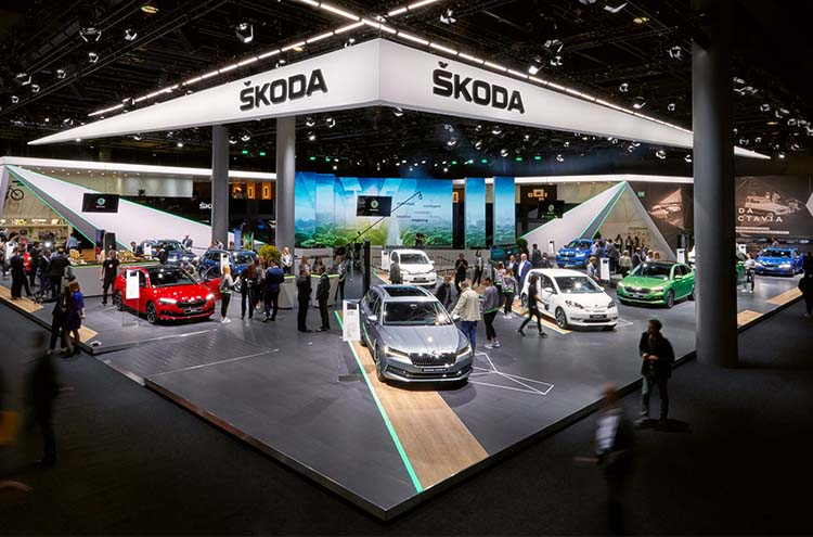 SKODA stand at the Frankfurt motor show 2019