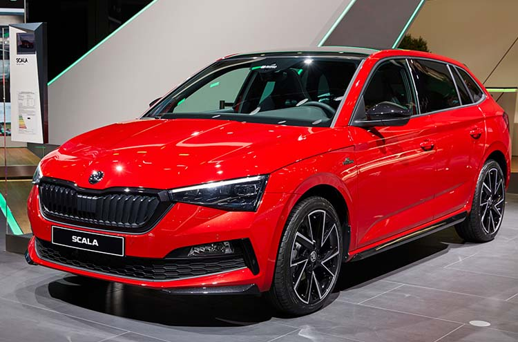 new SKODA Scala Monte Carlo trim revealed at Frankfurt motor show 2019