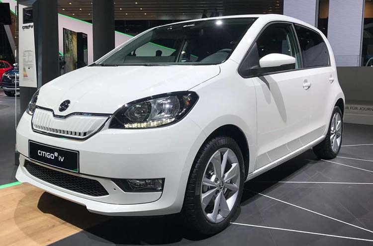 electric SKODA Citigoe iV at Frankfurt motor show 2019