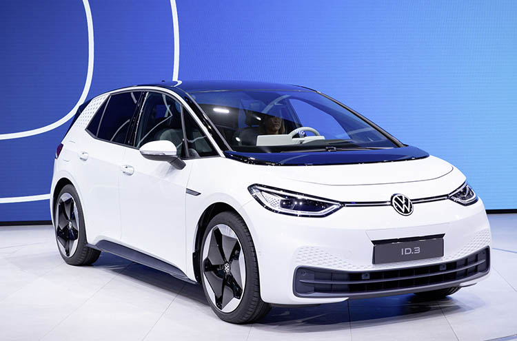 New Volkswagen ID.3 in white at Frankfurt motor show 2019