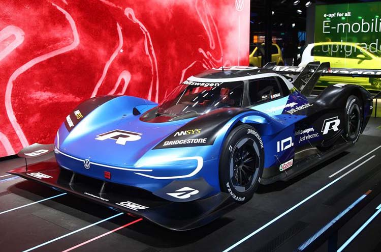 New racing Volkswagen ID R at Frankfurt Motor Show 2019