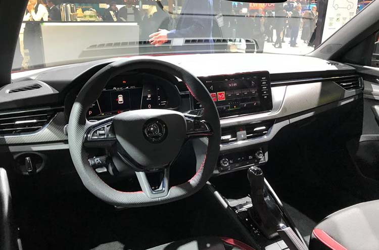 Inside the new SKODA Kamiq at Frankfurt Motor Show 2019