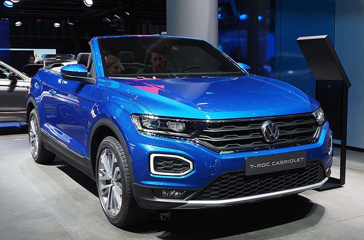 Volkswagen T-Roc Cabriolet roof down at the Frankfurt Motor Show