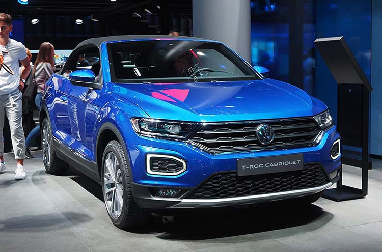 New Volkswagen T-Roc Cabriolet with roof up at the Frankfurt Motor Show