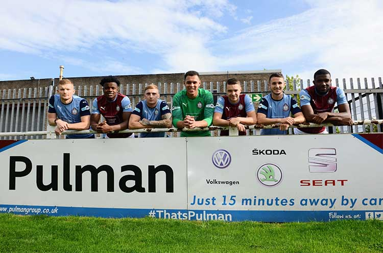 South Shields FC first team players with Pulman