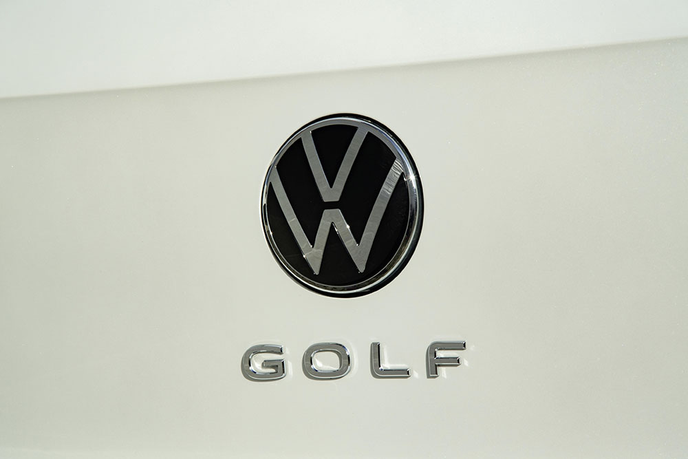 new New Volkswagen Golf Mk8 badge and logo