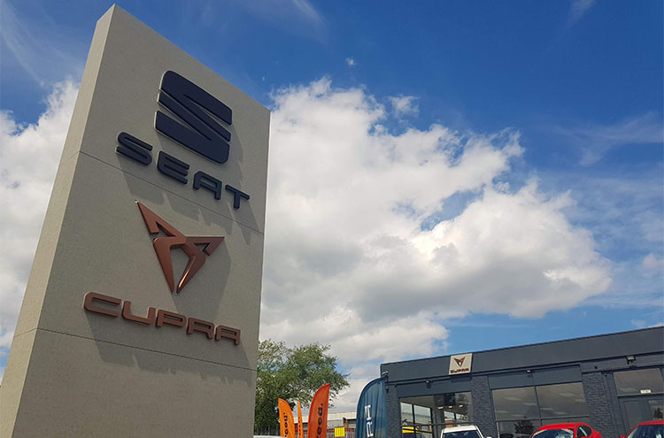 New totem at Pulman SEAT and CUPRA in Sunderland