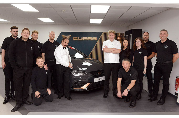 Pulman SEAT and CUPRA team at the new refurbed launch party - October 2019