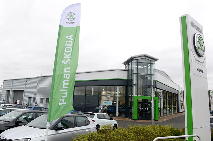 Signage for Pulman SKODA Cramlington formerly Silbury SKODA