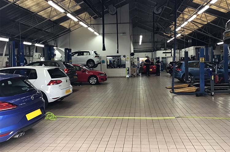 Pulman Volkswagen Sunderland workshop
