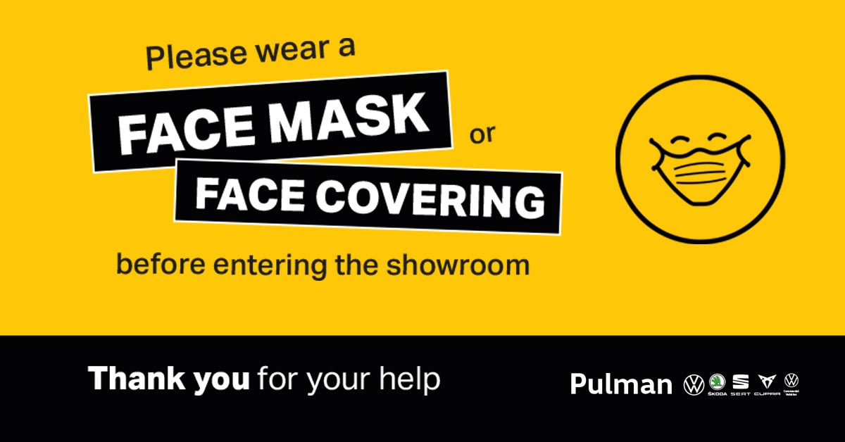 Face covering mandatory in Pulman showrooms