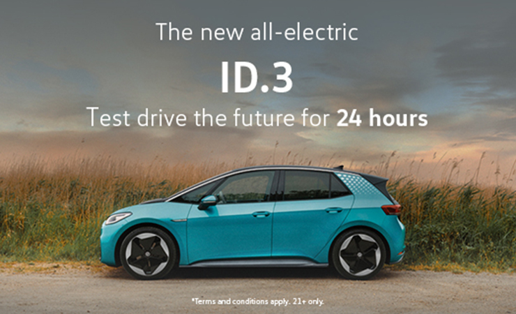 Test drive the Volkswagen ID.3 for 24 hours from Pulman Volkswagen